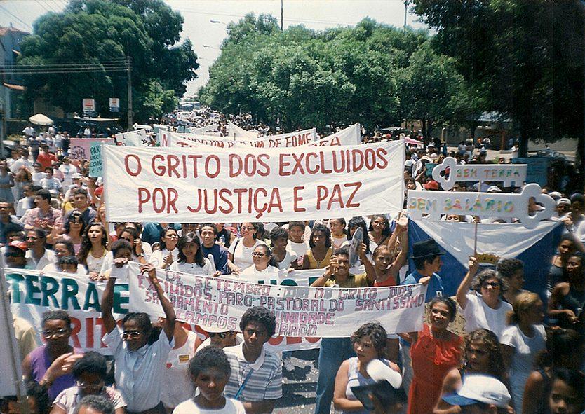foto manifestatie O Grito dos Excluidos 1995 (Arquivo Grito dos as Excluidos as BR)